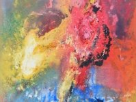 Abstrakcja 1,obraz olejny w ramie ,100x100 cm, olej ,płótno,autor Ted Małecki