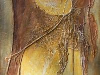Abstrakcja 17,płótno ,collage ,technika wlasna ,format 100x70 cm ,autor Tadeusz Malecki