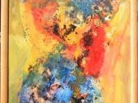 Abstrakcja 25,100x70 cm,płyta ,rama,obraz olejny,akryl ,płyta