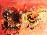 Abstrakcja 21,100x70 cm ,płyta,rama,obraz olejny,akryl ,płyta