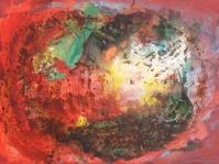 Abstrakcja 19,100x70 cm,płyta ,rama,obraz olejny,akryl ,płyta