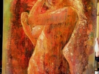 Akt 8 Obraz olejny namalowany na płótnie,format 100x70 cm ,autor Tadeusz Małecki ,cena do ustalenia