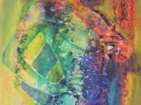Akt 7 ,obraz olejny+akryl ,płótno ,format 110x70 cm autor Tadeusz Małecki ,cena do uzgodnienia