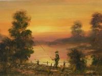 1.Obraz olejny namalowany na płótnie ,format  60x30