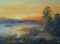 14.Pejzaż ,olej,płótno, 36x 24,5 cm ,autor Tadeusz Małecki