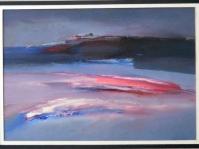 20.Obraz olejny na kartonie w paspartu,20x30 cm