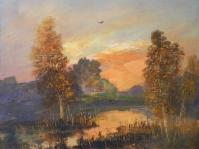17.Pejzaż ,olej,płótno, 49x35 cm ,autor Tadeusz Małecki