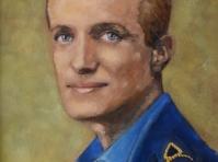 Portret malowany na zamówienie ze zdjęcia ,olej ,płótno 40x30