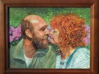 Portret 40x30 cm ,olej,płótno