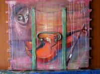 Deska ,obraz olejny ,70x60 cm ,autor Ted Małecki,w kolekcji prywatnej