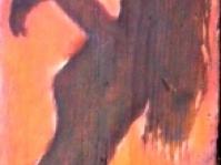 Deska,120x35 cm ,obraz olejny,autor Ted Małecki,w kolekcji prywatnej