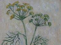 Koper 24x18 cm,obraz olejny ,płótno,w kolekcji prywatnej