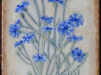 \'\'Chabry\'\',obraz olejny na płótnie ,24x18 cm ,autor Jola Kempa-Małecka