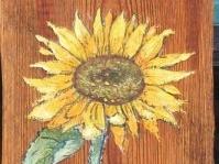 \'\'Słonecznik\'\',obraz olejny na desce w kolekcji prywatnej,60x20 cm
