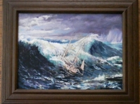 Obraz olejny na płótnie ,40x30 cm ,w kolekcji prywatnej