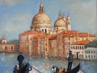 \'\'Wenecja\'\'obraz olejny na płótnie ,70x70 cm  w kolejcji prywatnej