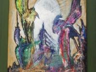 12.0braz abstrakcyjny na płycie ,60x50 cm