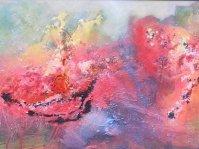 Abstrakcja 2,obraz olejny w ramie ,120x70 cm, olej ,płótno ,autor Tadeusz Malecki