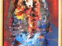 Abstrakcja 5,100x70 cm ,płyta ,rama,obraz olejny,akryl ,płyta