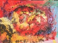 Abstrakcja 22,100x70 cm,płyta ,rama,obraz olejny,akryl ,płyta