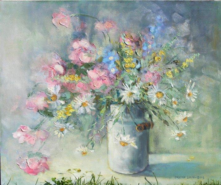 Obrazy Olejne Kwiaty