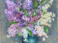 18''Bzy'' obraz olejny na płótnie, format 40x30 cm ,autor Jola Kempa-Małecka