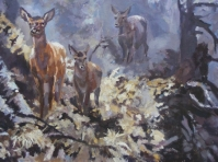 Obraz olejny na płótnie w ramie,format 40x30 cm .Obraz w kolekcji prywatnej