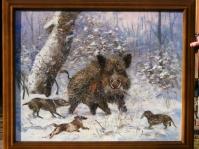 ''Marzenie myśliwego'' 100x80 cm,olej,płótno ,obraz w kolekcji prywatnej