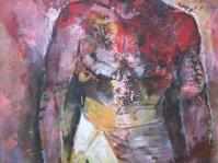 ''Akt męski'',obraz olejny ,autor Tadeusz Małecki ,format 100x70 ,płótno ,cena do uzgodnienia