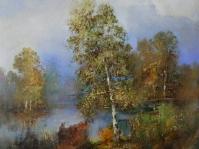 10.Pejzaż  ,olej,płótno, 40x 35cm ,autor Tadeusz Małecki