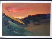 22.Obraz olejny na kartonie w paspartu,20x30 cm