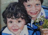 Portret ,olej,płótno 40x30,autor Tadeusz Małecki