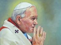 Portret papieża Jana Pawła2 ,olej,płotno 85x65
