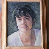 Portret 50x40 cm,olej ,płótno,autor Tadeusz Małecki