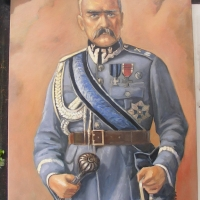 Portret 40x30 cm,olej ,płótno,autor Tadeusz Małecki