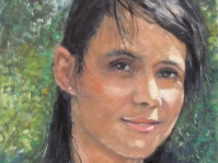 Portret ,40x30 ,olej,płótno ,autor Tadeusz Małecki