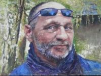 Portret 40x30 obraz olejny,autor Tadeusz Małecki