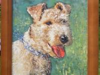 ''Portret'' obraz olejny namalowany na płótnie ,format 50x40 cm z ramą ,autor Tadeusz Małecki,obraz w kolekcji prywatnej