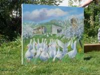 ''Folwark Kamyk'' ,100x120 cm ,olej
