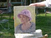 Portret 30x40 cm ,olej